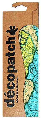 Decopatch Papier No. 691 (türkis Landkarte, 395 x 298 mm) 3er Pack