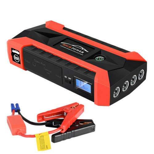 Riloer 89800 mAh UK Standrad LCD Car Jump Starter Emergencia batería 4 cargador USB batería Power Bank