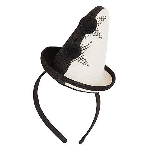Bristol Novelty BH654 Clown Pierrot Mini-Hut mit Stirnband, Damen, mehrfarbig, Einheitsgröße