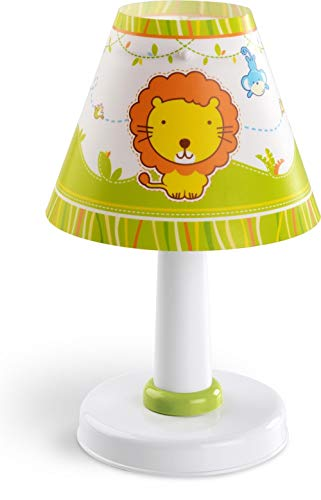 Dalber 21111 Little Zoo Nachttischlampe, Plastik, grün, 16 x 16 x 27 cm