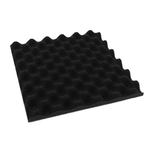 Studio Akustikschaumstoff für Akustikschaum, 30 x 30 cm, Weiß Schwarz