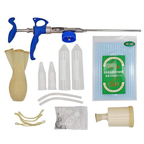 M.Z.A Kit de inseminación para conejos 2ML con colector de semen para mascotas y equipo de inseminación artificial para conejitos de plástico Deferens para conejos (pinza para inseminación en conejos)