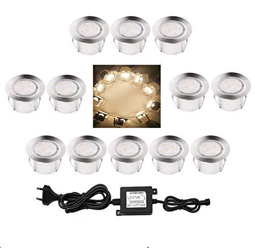 CISLAN Luces LED de 45 mm, IP67, resistentes al agua, luz blanca...