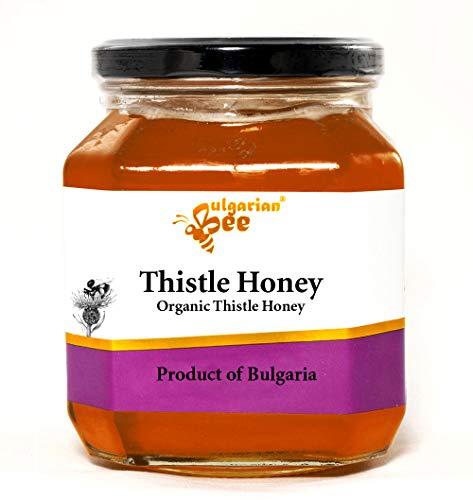 900 g Distel Bienen Honig, Wilde Distelwiesen, vollständig kristallisiert