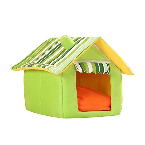 Feli546Bruce Cama para mascota, preciosa casa de perro y gato, cojín de invierno, lavable, desmontable, para mascotas, cama grande y cálida, para cachorro, sofá suave, cojín para gato, saco de dormir