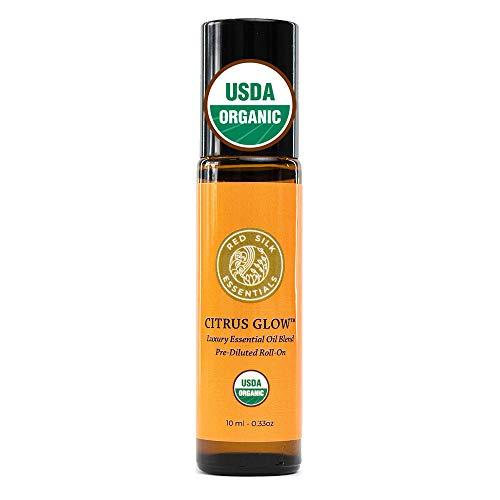 Organic Citrus Glow Essential Oil Invigorating Blend Roll...