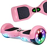 CBD 6.5' Hoverboard for Kids, Two Wheel Self Balancing Electric Scooter, Hoverboard with LED Lights for Adults, UL 2272 Certified Hover Board, Pink(No Bluetooth)