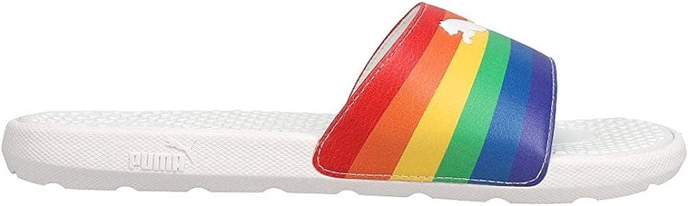 Puma Womens Cool Cat Rainbow Bx Slide Sandals Sandals Casual - Multi,White