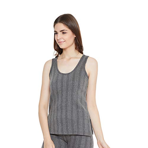 ZIMFIT Cotton Women's or Girls Winter wear Half Sleeves Thermal,Warmer, Slip Top in Dark Grey Colour Size,44 (Pack of 1)