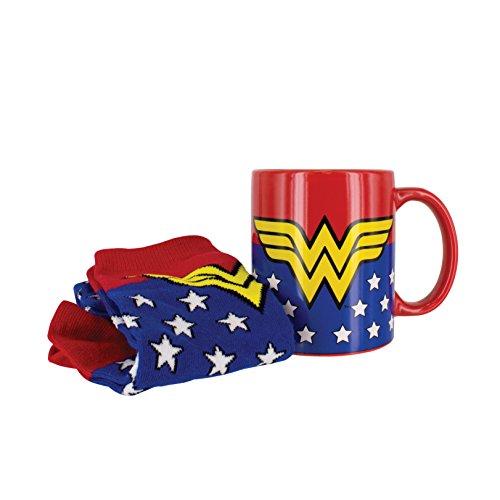 DC Comics Taza y Calcetines Wonderwoman, cerámica, Multicolor, Standard Mug Size