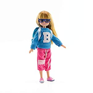 HIGH SCHOOL DOLL Age-appropriate sports fashion doll with glasses. DOLL BACKPACK features super cute Lottie Doll character BLONDE DOLL WITH GLASSES & backpack. Long Blonde hair. Blue eyes. Fab gift for school kids! IMAGINATIVE PLAY as cheerleader dol...