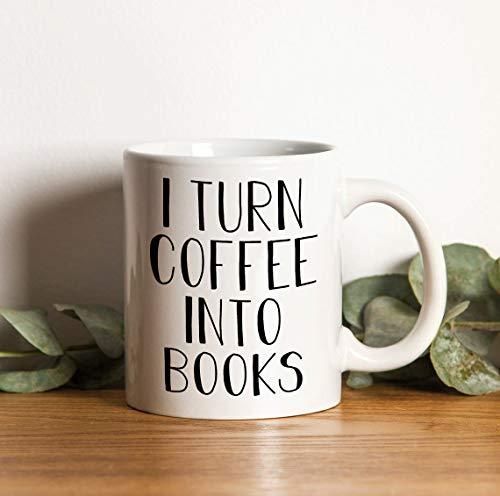 I Turn Coffee into Books, Autor Geschenktassen, Autor Kaffeetasse, Bestseller-Autor, Schriftsteller-Tasse, Autor Geschenk, Geschenk für Autor, Neuheit Gitf