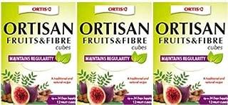 (3 PACK) - Ortis - Fruits & Fibre Cubes   24 Cubes box   3 PACK BUNDLE by Ortis