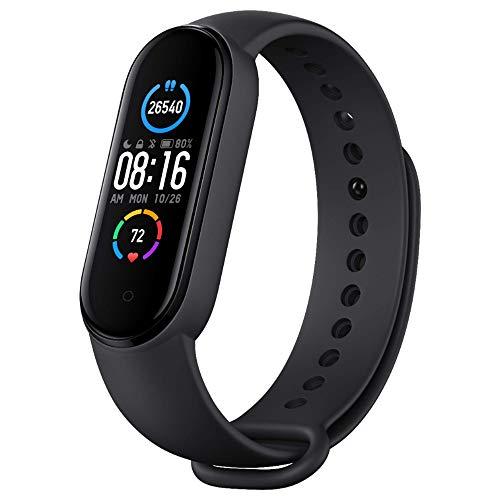 Pulseira de relógio inteligente Xiaomi Mi Band 5 Fitness Tracker para homens e mulheres, monitor de frequência cardíaca, Cardio, Carregamento magnético, Reloj, Pedômetro, Atividades, Sono, Etapa, Natação, Esporte, 5ATM, Impermeável, Miband Versão global