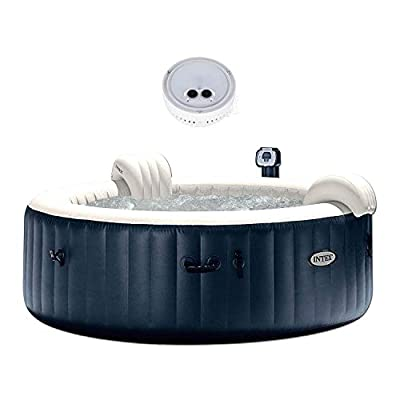 Intex Pure Spa Inflatable 6-Person Bubble Hot Tub & PureSpa Battery LED Light