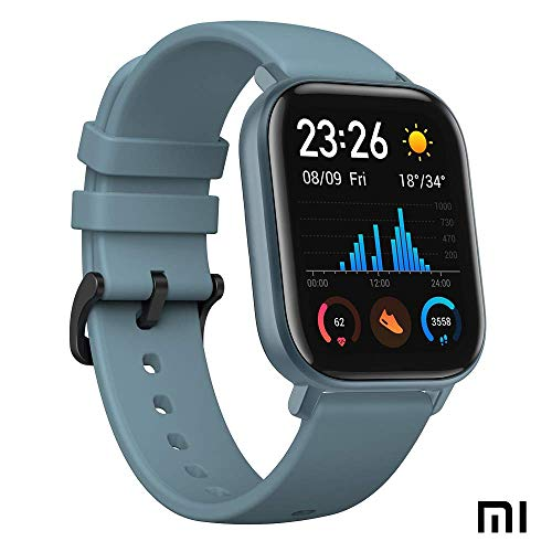 Amazfit GTS Reloj Smartwactch Deportivo | 14 días Batería | GPS+Glonass | Frecuencia Cardíaca | (iOS & Android) AZUL (Reacondicionado Certificado)