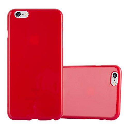 Cadorabo Custodia per Apple iPhone 6 PLUS/iPhone 6S PLUS in JELLY ROSSO - Morbida Cover Protettiva Sottile di Silicone TPU con Bordo Protezione - Ultra Slim Case Antiurto Gel Back Bumper Guscio