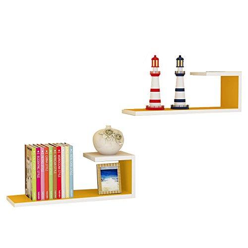 XING ZI Shelf C-K-P Moderne Minimaliste Étagère Murale 60 * 20 * 14 CM Mur Salon Type De Partition Tenture Murale Mur Surface Plateau Étagère Cadre Décoratif (Color : 8)