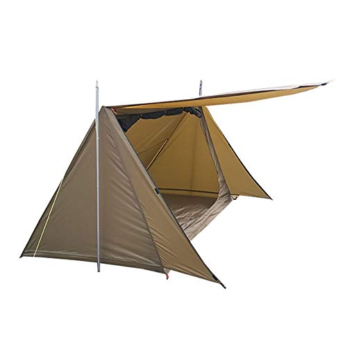 PN-Braes Tents Baker Style Tent for 2 Persons for Family Camping Outdoor and DIY Enthusiasts for Outdoor and Hiking Traveling (Color : Coyote Brown, Size : 2 persons)