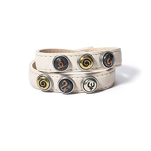 Noosa Petite doppeltes Leder Armband in Cream - Double Skinny - Gr. XS