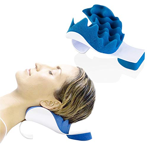 Chiropractic Pillow, LiuYX Cervical Pillow Neck Traction Device, Neck Massage Cervical Pillow, Neck Support Pillows for Pain Relief, Neck and Shoulder Pain Relief Support, Cervical Spine Alignment