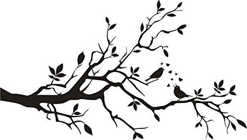 Ast Verliebte Pájaros 80 cm de alta calidad resistente a los rayos UV, pegatinas, para coche, pared, portátil, azulejos, baño, WC, y todas las superficies lisas de alto rendimiento sin fondo,