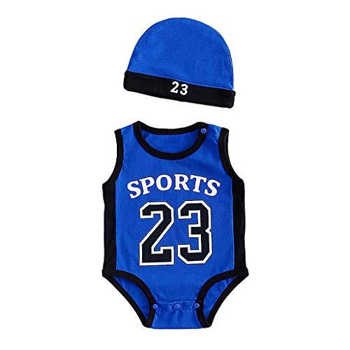 Babybekleidung,Baby Jungen Kleidung Set Basketball Anzug Outfits Neugeborene Babyanzug Kurzarm Overall Spielanzug Schlafanzug Nachtwäsche Sleepwear