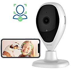 Wireless IP Camera, HUGOAI WiFi 1080P HD Home Security Surveillance Camera with Face Detection, Motion Detection, Night Vision, Two Way Audio for Baby Pet Monitor - Cloud Service Available