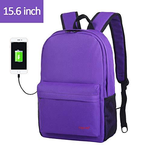 QueenAILSA kleine rugzak voor mannen, collage, 15,6 inch, USB-laptop, rugzak voor vrouwen, mannen, mochila licht, schooltassen voor jongeren, meisjes en jongens
