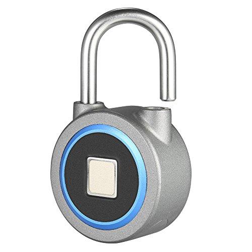 Bedler BT Fingerabdruck Smart Keyless Lock wasserdichte APP/Fingerabdruck entsperren Diebstahl Vorhängeschloss Gepäck-Etui Schloss für Android iOS System - Blau Fingerprint Vorhängeschloss