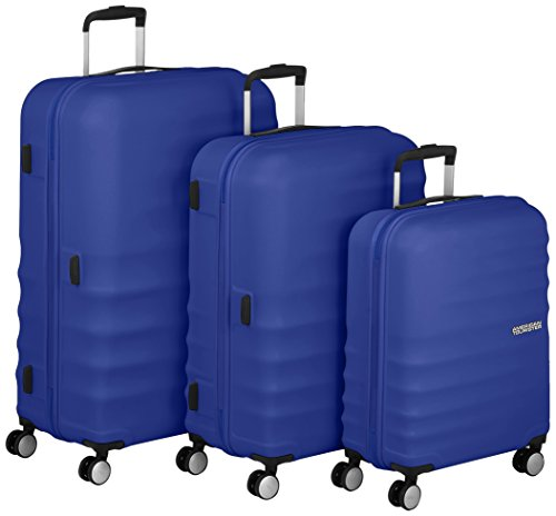 American Tourister Wavebreaker Set di Valigie 3 Pezzi, Nautical Blue, 96 ml, 77 cm