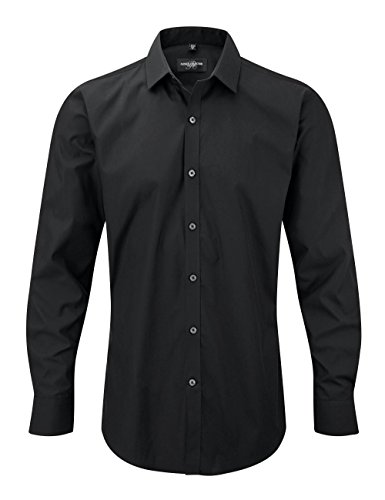 Russell Collection manches longues ultime stretch shirt - Black - 3XL