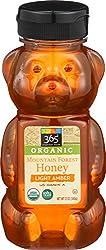 365 Everyday Value, Organic US Grade A Mountain Forest Honey, Light Amber, 12 oz