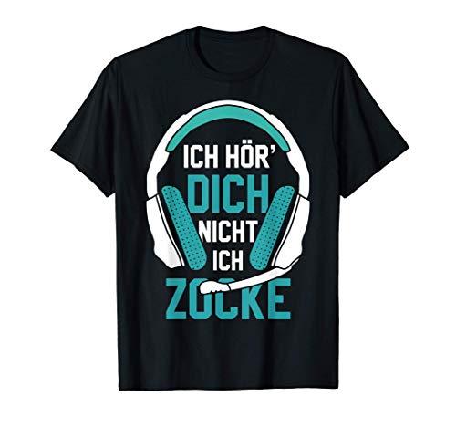 Ich Hör' Dich Nicht Ich Zocke Gamer Headset Geschenk Idee T-Shirt
