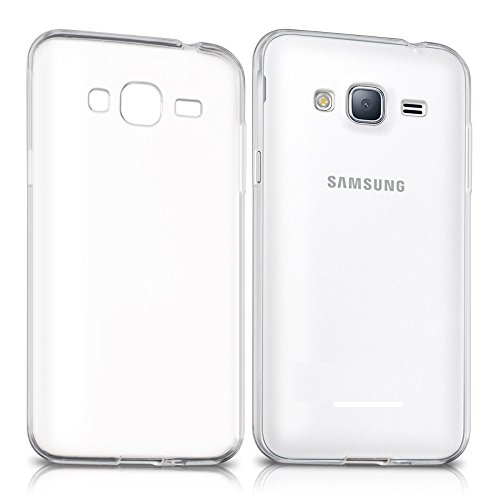 REY Funda Carcasa Gel Transparente para Samsung Galaxy J3 2016, Ultra Fina 0,33mm, Silicona TPU de Alta Resistencia y Flexibilidad