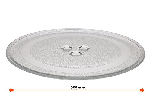 REPUESTOELECTRO Plato Giratorio microondas Balay Daewoo diametro 255 mm 3WG2421 4WG214A 3WG19X 3WH2126E
