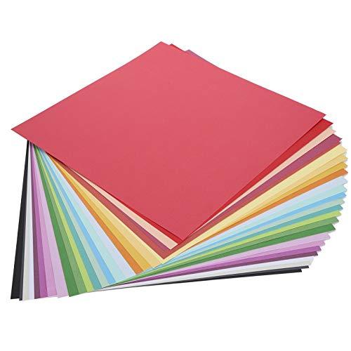 Papel De Color Cuadrado Documento De Antecedentes Doble Cara Papel Decorativo ArtesaníA De Bricolaje Origami con 25 Colores por Diarios Cuadernos Tarjetas De Felicitacion 30 X 30 Cm 25 Piezas