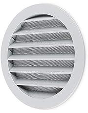 calimaero WSGG 160 mm grijze ronde metalen ontluchter Grillafdekking platte louvre met hor
