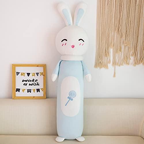 KXCAQ 60 cm Creativo Conejo Animal muñeca cilíndrica Abajo Almohada de algodón muñeca de Juguete de Felpa Almohada decoración del hogar niño niña Regalo 60 cm 5
