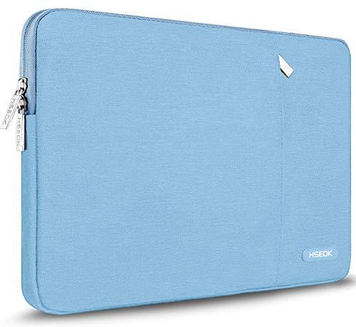 HSEOK 15,6 Zoll Laptop Hülle Tasche,Stoßfeste Wasserdicht PC Sleeve kompatibel mit die meisten 15,6 Zoll Laptops Dell/HP/Lenovo/Acer/Asus, Hellblau