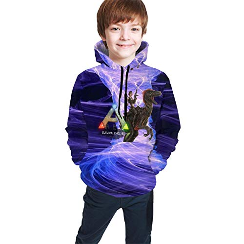 Sudadera con Capucha niño Youth Teen Ark-Survival-Evolved Game Logo Hoodie Sweatershirt Long Sleeve Pullover Hoodies for Teens Boys Girls Clothes