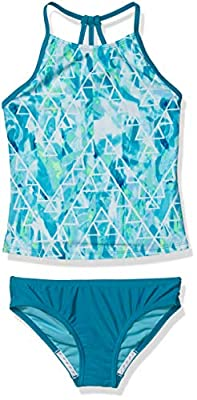 Speedo Girl's Swimsuit Two Piece Tankini Thin Strap