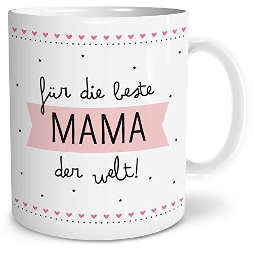 OWLBOOK Beste Mama Große Kaffee-Tasse mit Spruch im Geschenkkarton Muttertagsgeschenk Geschenke Geschenkideen für Mama zum Geburtstag Muttertag