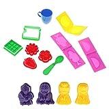 perfeclan 14x Portable Baby Beach Sandbox Toy Sand Mold Summer Outdoor Sand Toys
