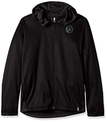 NBA by Outerstuff NBA Youth Boys Boston Celtics 'Ballistic' Hooded Jacket, Black, Youth Medium(10-12)