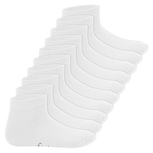 Footstar Kinder Kurzschaft Socken (10 Paar) - Sneak it! - Weiß 23-26