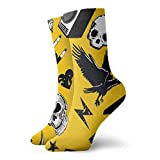 wwoman Novedad Divertido Crazy Crew Sock Rock and Roll Pattern Music Impreso Sport Athletic Calcetines 30cm de largo Calcetines personalizados