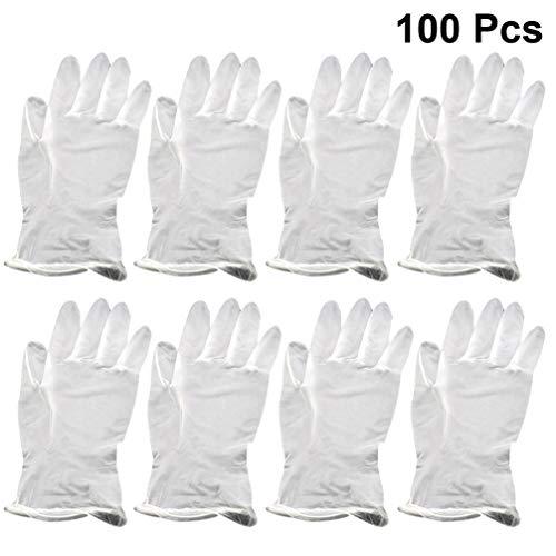 Hakka 100 guanti usa e getta in PVC trasparente, guanti da lavoro per uso alimentare,...