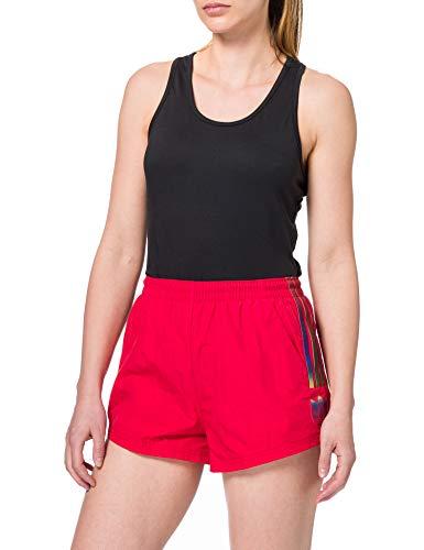 adidas Adicolor 3D Trefoil Pantalones Cortos, Escarlata, 34 para Mujer