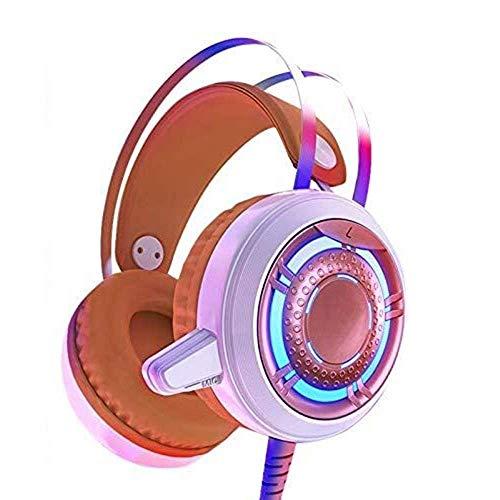 PS4 profesional auricular for juegos con cable de 3,5 mm estéreo Bass aislamiento de ruido Auriculares for juegos con micrófono y los LED se enciende for Playstation 4, Xbox One, ordenador portátil, l